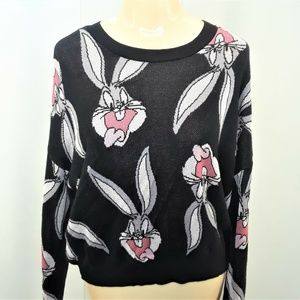 Divided Bugs Bunny Sweater Womens Looney Tunes